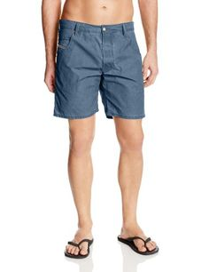 Maui  Sons Mens Tropical Trip Swim Trunk Blue 30 *** Check out this great product.