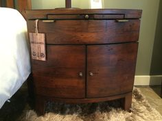 LH Imports Night Stand, 100% Reclaimed wood
