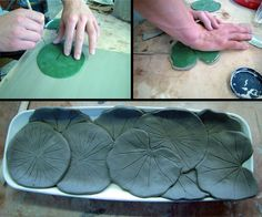 Use the large cabbage leaf to make lg salad bowl, then make smaller for a set. Ceramic Tools, Ceramic Shop, Ceramic Clay, Ceramics Projects, Clay Projects, Clay Crafts, Ceramic Techniques, Pottery Techniques, Slab Pottery
