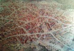 Il villaggio di Geridu, ricostruzione realizzata grazie a diverse informazioni provenienti da differenti fonti.