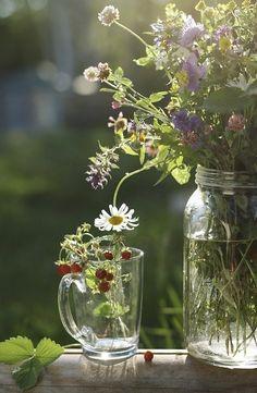 hygge home interiors Fresh Flowers, Wild Flowers, Beautiful Flowers, Summer Flowers, Bouquet Champetre, Arte Floral, Simple Pleasures, Floral Arrangements, Daisy
