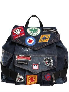 DSQUARED2 . #dsquared2 #bags #leather #linen #backpacks #cotton ...