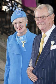 Queen Margrethe and her husband Prince Henri, September 15, 2013 | The Royal Hats Blog