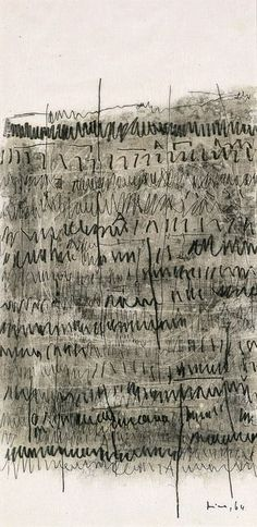 Mira Schendel, 'Archaic Writing,' 1964, Blanton Museum of Art ( asemic writing )