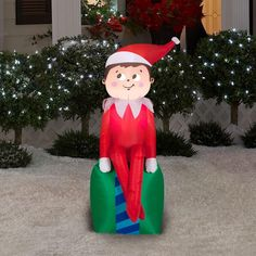 Help your scout elf spot your house this Christmas with this airblown lawn décor that looks just like your favorite scout elf! Available now, exclusively at Home Depot (US locations)! Note: Be sure to check with your local Home Depot location to verify product availability