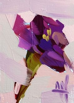 Purple Carnation original flower oil painting by Angela Moulton  #Impressionism