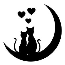 Imagen relacionada Cat Applique, Animal Silhouette, Black Picture, China Painting, Black N White Images, Small Art, Love Drawings, Pebble Art, Stone Art