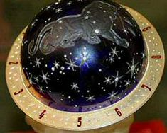 Another photograph of the 1917 Faberge Tsarevich Constellation egg. The Leo constellation is clearly visible with this photograph, which depicts the Tsarevich Alexei's astrological sign. (Please see earlier pins for more information about the egg which was never fully completed and given to Empress Alexandra due to the Russian revolution.)