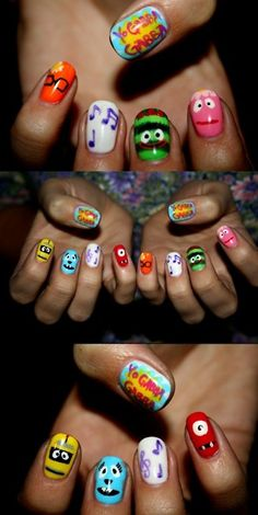 Yo gabba gabba nails??!