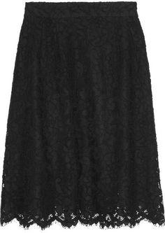 d6e7f136c1ff5 Dolce  amp  Gabbana A-line cotton-blend lace skirt on shopstyle.com