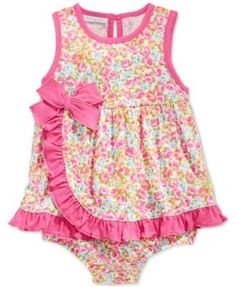 First Impressions Baby Girls' Floral-Print Ruffle Sunsuit, Only at Macy's