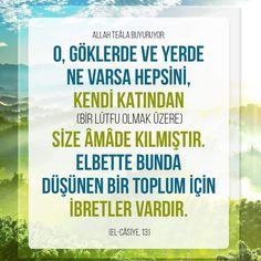 Düşünün!  #toplum #ibret #yer #gök #ayet #islam #ayetler #ilmisuffa