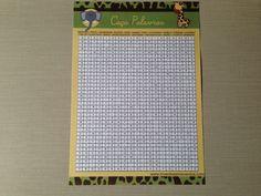 Caça Palavras: tradicional jogo de caça palavras dentro do diagrama, sendo 20 palavras que devem ser encontradas nesta brincadeira. Todas as palavras são de itens relacionados a maternidade / bebê.    Contém: 1 folha de instruções + 1 folha resposta + 10 folhas personalizadas do jogo.    Material...