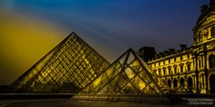 Louvre Pyramid by AroundTheWorldByChristianRabenstein Places Around The World, Around The Worlds, Louvre Pyramid, Apartment Cleaning Services, Wonderful Places, Skyscraper, Wildlife, Journey, Landscape