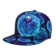 68b2e1a552e Blue Planet Printed Flat Snapback Baseball Cap  printed  baseballcap   snapbacks  blue  hat  shopping  gifts  fashion  cool. Hallie Caps