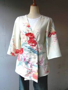 Google Kimono Fabric, Kimono Dress, Kimono Jacket, Kimono Top, Kimono Fashion, Modest Fashion, Fashion Outfits, Japanese Fashion, Sewing Clothes