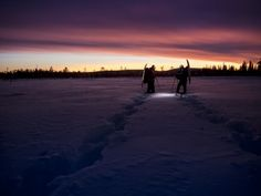 Light conditions and the colour of the sky change by the day, if not by the hour. The winter skies are always worth gazing while in the Lappish wilderness.
