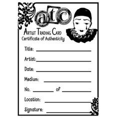 Scrapbookgraphics.com :: Brushes :: ATC Stamps