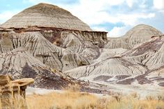 """Wildly eroded rock formation in Dinosaur Provincial Park"""