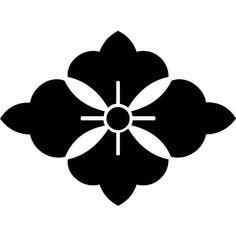 Japanese family crest, kamon or mon  利休花菱(りきゅうはなびし)