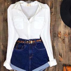 Estou apaixonada nesse look da loja 😍 Looks lindos, estilosos e de ótima qualidade vocês encontram lá, Vale a pena… Cute Summer Outfits, Cute Casual Outfits, Stylish Outfits, Spring Outfits, Women's Casual, Girly Outfits, Teenage Outfits, Teen Fashion Outfits, Mode Outfits