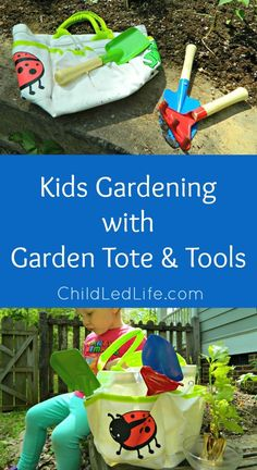 """Outside work is one of the most satisfying activities we do with our children. I am excited to review the Garden Tote & Tools from For Small Hands. This sturdy tote and child sized tools really complement our love for the outdoors.  """"The child becomes a person through work.""""   ~Maria Montessori The …"""