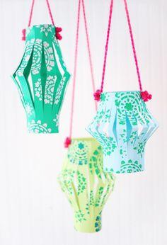 Восхитительные китайские фонарики из бумаги