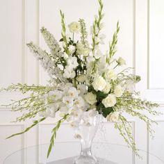 red gladiolus floral arrangements for church altar | White Altar Arrangement | Grande Flowers