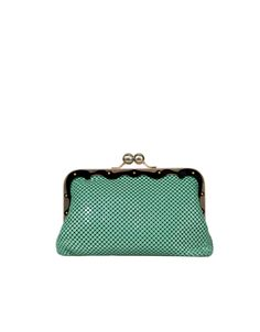 Teal chainmail purse