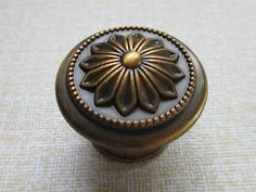 Dresser Knobs Flower Antique Brass / Drawer Pulls by LynnsHardware