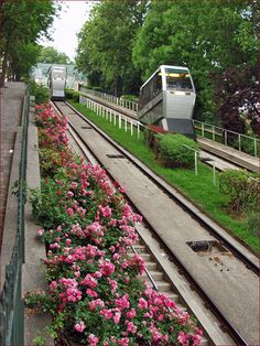 Funiculaire up to the Sacre Coeur, Montmartre, Paris