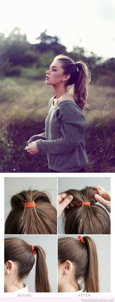 Prop it up with two bobby pins