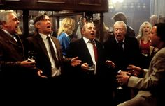 LAST ORDERS (2001, Britain; directed by Fred Schepisi). Michael Caine, Tom Courtenay, David Hemmings, Bob Hoskins, Helen Mirren and Ray Winstone: As fine a cast as has ever been assembled in our time for a movie; this film is an incredibly moving drama of longtime friends paying homage to a newly departed pal while carrying his ashes to his final resting place. Why, why, why, would you bombard yourself with mindless CGI crap when something like this blasts your soul? (KevinR@Ky)