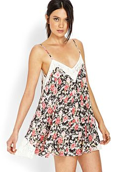 Rose Riot Shift Dress | FOREVER21 - 2000063322   I love this pattern!