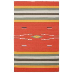 Found it at AllModern - Sedona Hand-Woven Orange Area Rug