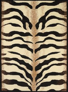 "United Weavers of America Legends Stripes 5'3""x7'2"" Area Rug, Black"