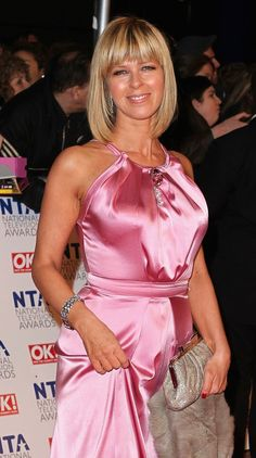 Sexy Older Women, Sexy Women, Itv Weather Girl, Pink Outfits, Cute Outfits, Kate Garraway, Tv Girls, Silk Evening Gown, Exotic Women