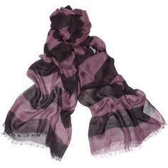 Burberry Prorsum Striped modal and cashmere-blend scarf