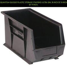 Quantum QUS265 Plastic Storage Stacking Ultra Bin, 18 Inch By 8 Inch By 9  Inch, #kit #shopping #bin #storage #tech #camera #plans #products #gadgets # 9 ...