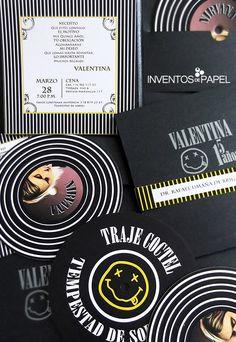 tarjeta-de-invitacion-15-creativa-cd Nirvana, Vows, Bridal Shower, Invitations, Ideas, Dress, Gift Cards, Birthday Cards, Birthday