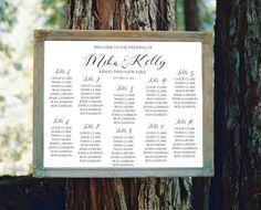 Wedding Seating Chart Sign printable, Modern seating chart, guest seating chart