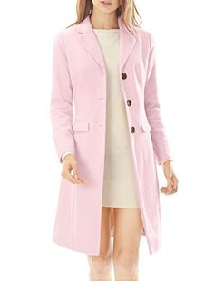 New Trending Outerwear: Allegra K Women Notched Lapel Button Closure Worsted Long Coat M Light Pink. Allegra K Women Notched Lapel Button Closure Worsted Long Coat M Light Pink  Special Offer: $34.72  122 Reviews • A long-sleeved worsted coat complete with a notched lapel, two flap pockets and a button closure front on a longline silhouette.• Body size chart shows fitting size, please...