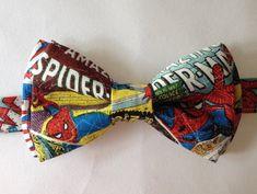 Amazing Spider-Man Superhero Marvel Comic Book  Bow Tie! Avengers! https://www.etsy.com/listing/198407493/amazing-spider-man-superhero-marvel?ref=listing-shop-header-0