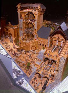 Medieval Town, Medieval Castle, Historical Architecture, Ancient Architecture, Model Castle, Witches Castle, Castle Illustration, Fantasy Castle, Fortification