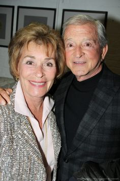 Judge Judy and Judge Jerry Sheindlin married briefly divorced, then remarried in 1991 -- 22 years! Celebrity Wedding Photos, Celebrity Couples, Celebrity Weddings, Famous Couples, Famous Women, Famous People, Judge Judy Sheindlin, Don't Judge, Tv Actors
