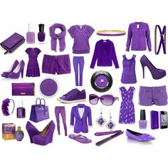 Purple, created by caboodles on Polyvore