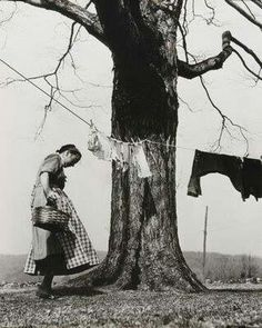 Old photograph ~ clothes line