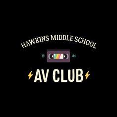 Stranger Things - Hawkins AV Club Men's T-Shirt by White Rabbit Design's Shop