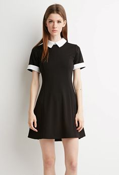 Contrast-Collared Dress | Forever 21 Canada