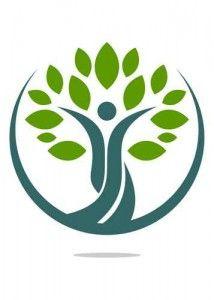 Logo natural tree health human